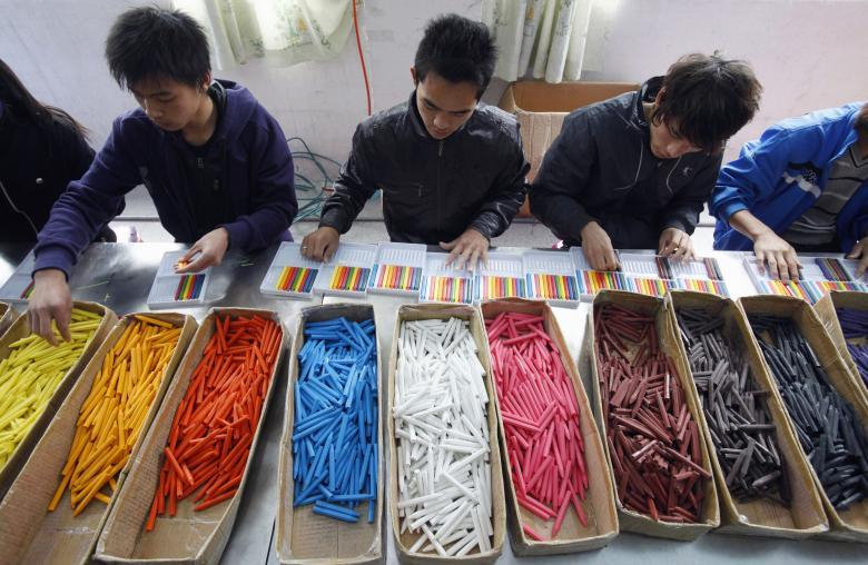 Игрушечная фабрика в Ляньюньгане в провинции Цзянсу.