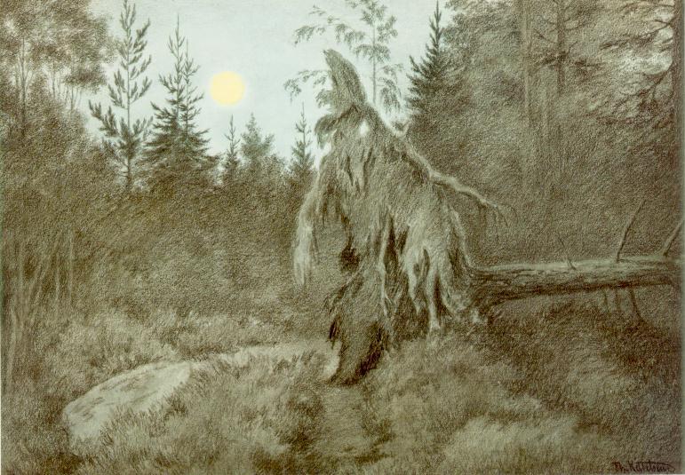 «Страшный, жуткий, шуршащий, шумный», 1900. Черпая вдохновение в природе Норвегии, Теодор Киттельсен