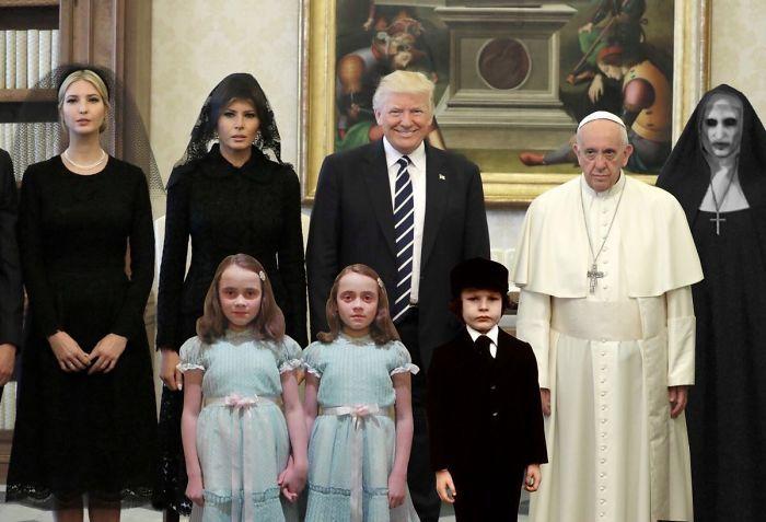 «Радостный» Папа Франциск проводит экскурсию для гостей: «Стулья, полы, стены… Мы закончили, можете