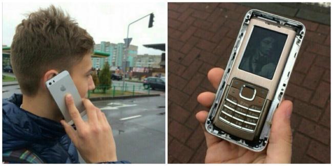 Может, и не последняя модель, но все-таки iPhone.