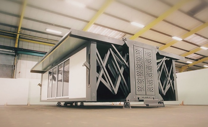 Площадь дома-гармошки в раскладном виде составляем 64 метра квадратных Блок-контейнер при раскладыва