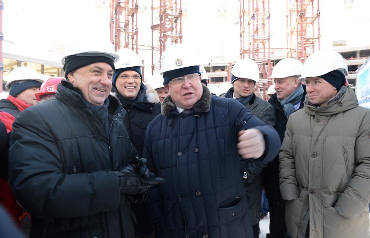 Вице-премьерРФ Виталий Мутко осмотрел строящийся стадион «Нижний Новгород»