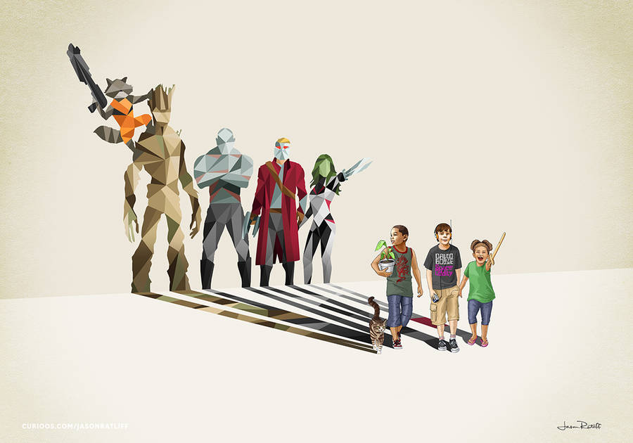 New Children's Superheroes Shadows Posters