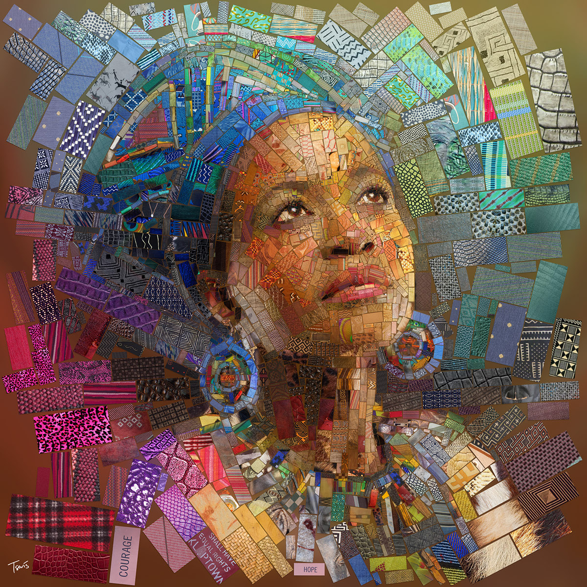 Splendid Mosaic Illustrations by Charis Tsevis