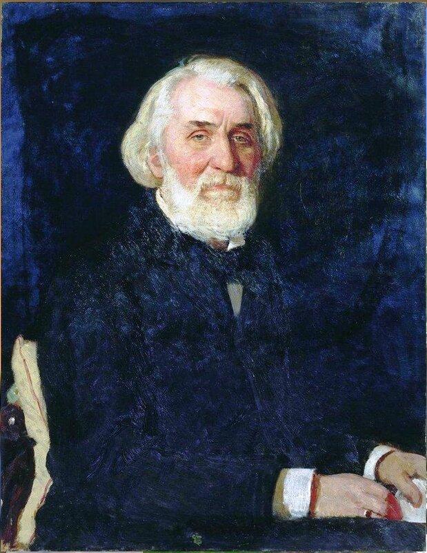 Портрет Ивана Тургенева. 1879. Русский художник Илья Ефимович Репин.jpg