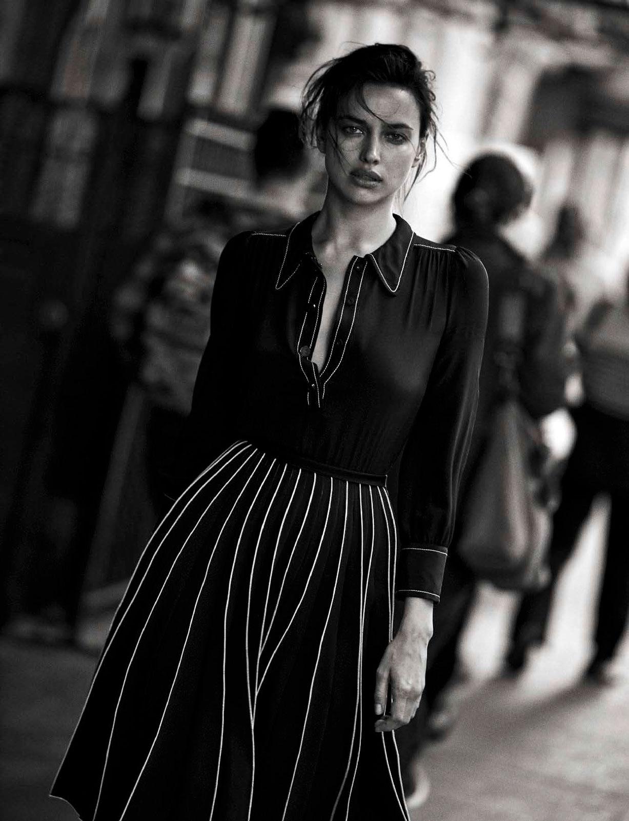 Irina Shayk - Walking by Peter Lindbergh - Vogue Italia october 2016