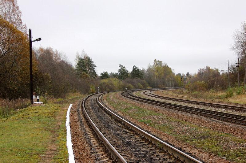 Платформа на станции Гарнея, вид на Себеж