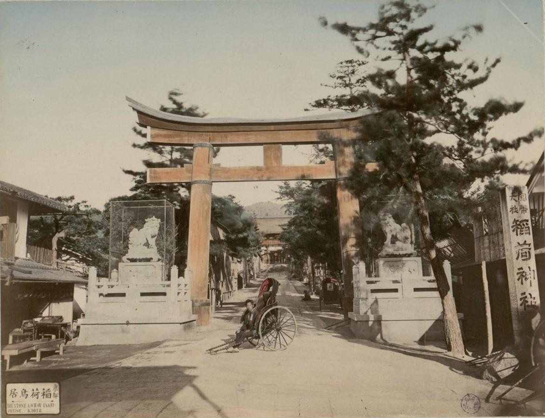 Киото. Каменная арка Инари