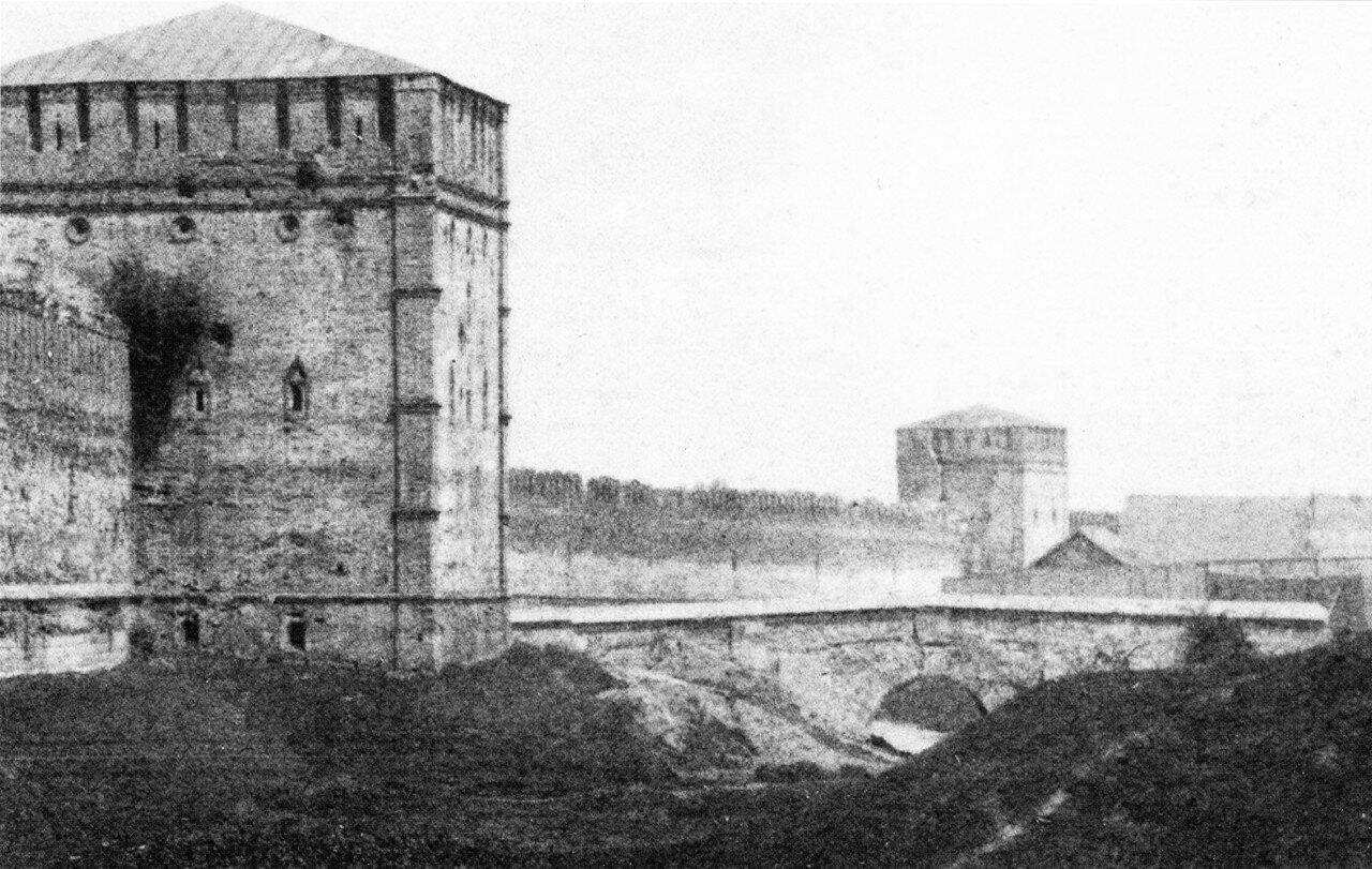 Башни Никольская и Зимбулка, мост через крепостной ров. 1889