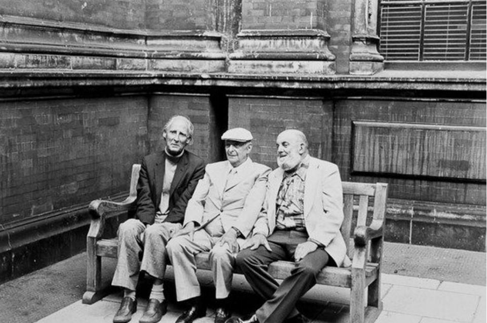 1976. Билл Брандт, Брассай и  Энсел Адамс на открытии выставки работ Энсела Адамса