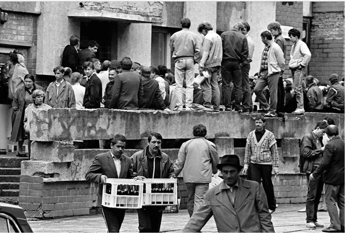 1988. Хабаровск. Очередь за водкой
