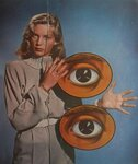1940s LAUREN BACALL Surrealist Fashion Photo Vintage Hollywood Classic.jpg