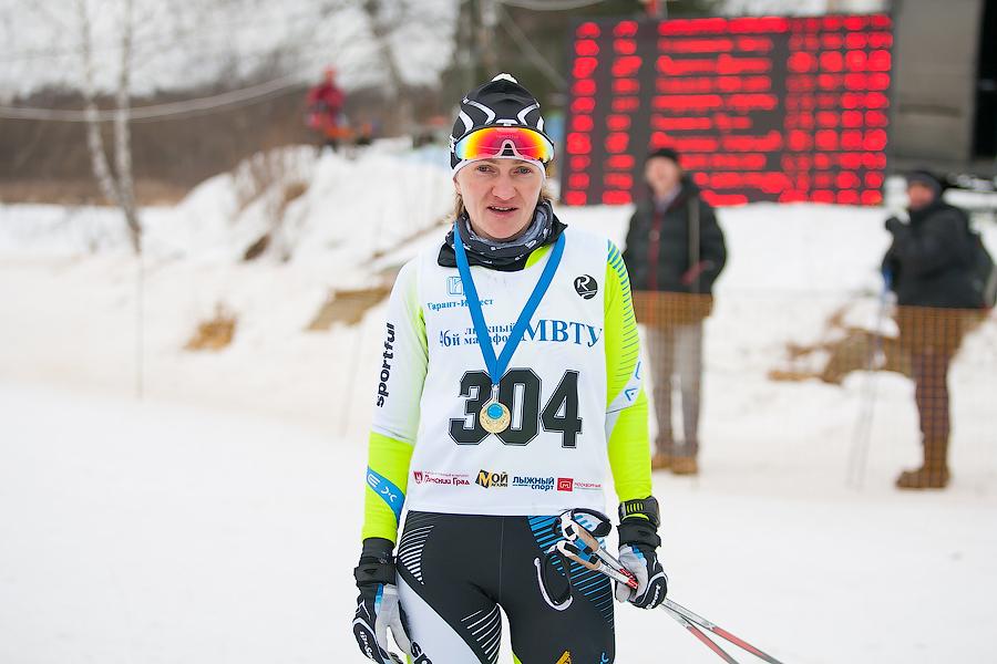 Татьяна Ямбаева, чемпионка России, МСМК - победительница 46-го Лыжного марафона МВТУ среди женщин