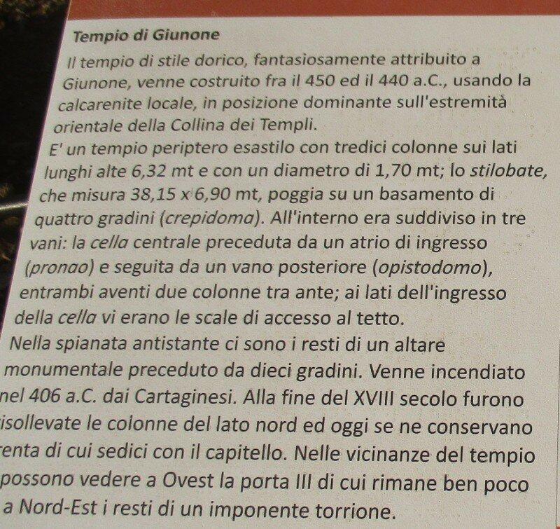 Agrigento, the Valley of the temples. Temple of Juno (Tempio di Giunone)