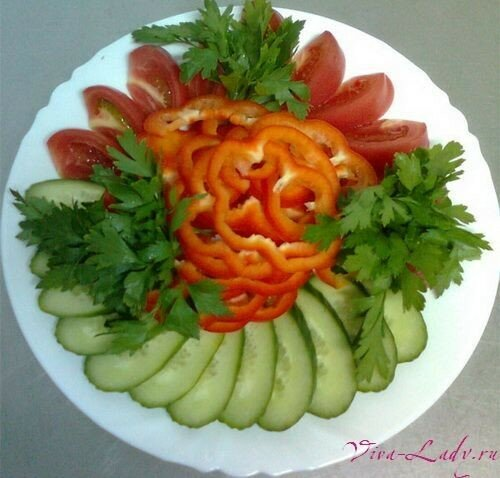 Как украсить тарелку с овощами