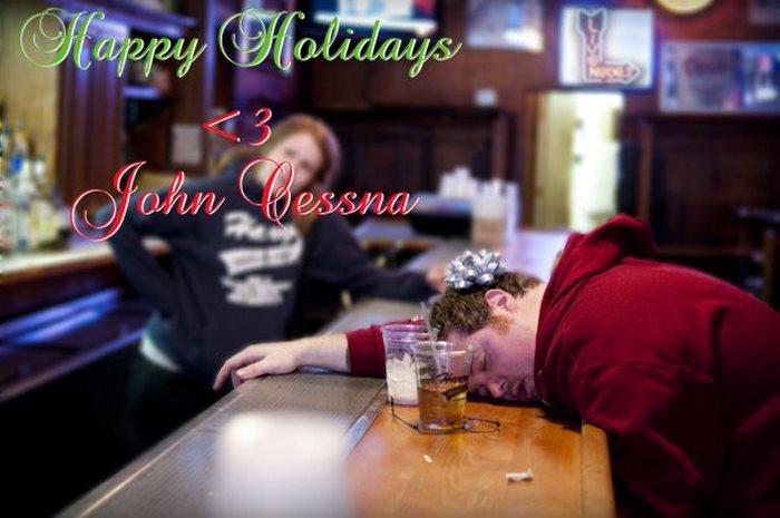2009: «Счастливых праздников! С любовью, Джон Сессна».
