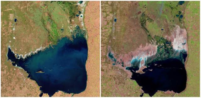 Реки Юты и Аризоны постепенно пересыхают.