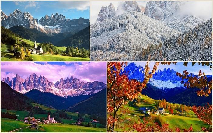 Природный парк Пюц-Гайслер расположен среди Альпийских гор.  20. Ущелье реки Колумбия, Орегон
