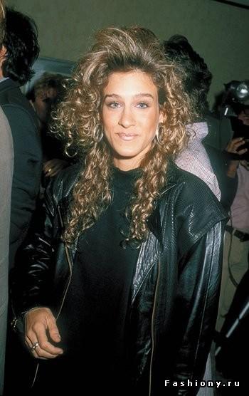 Снимок сделан в Вествуде штат Калифорния 17 апреля 1986 года. Сара Джессика Паркер и ее пышная завив