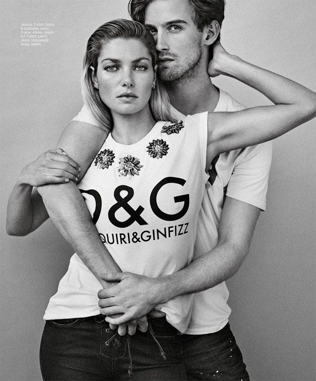 Джессика Харт и RJ King в Harper's Bazaar