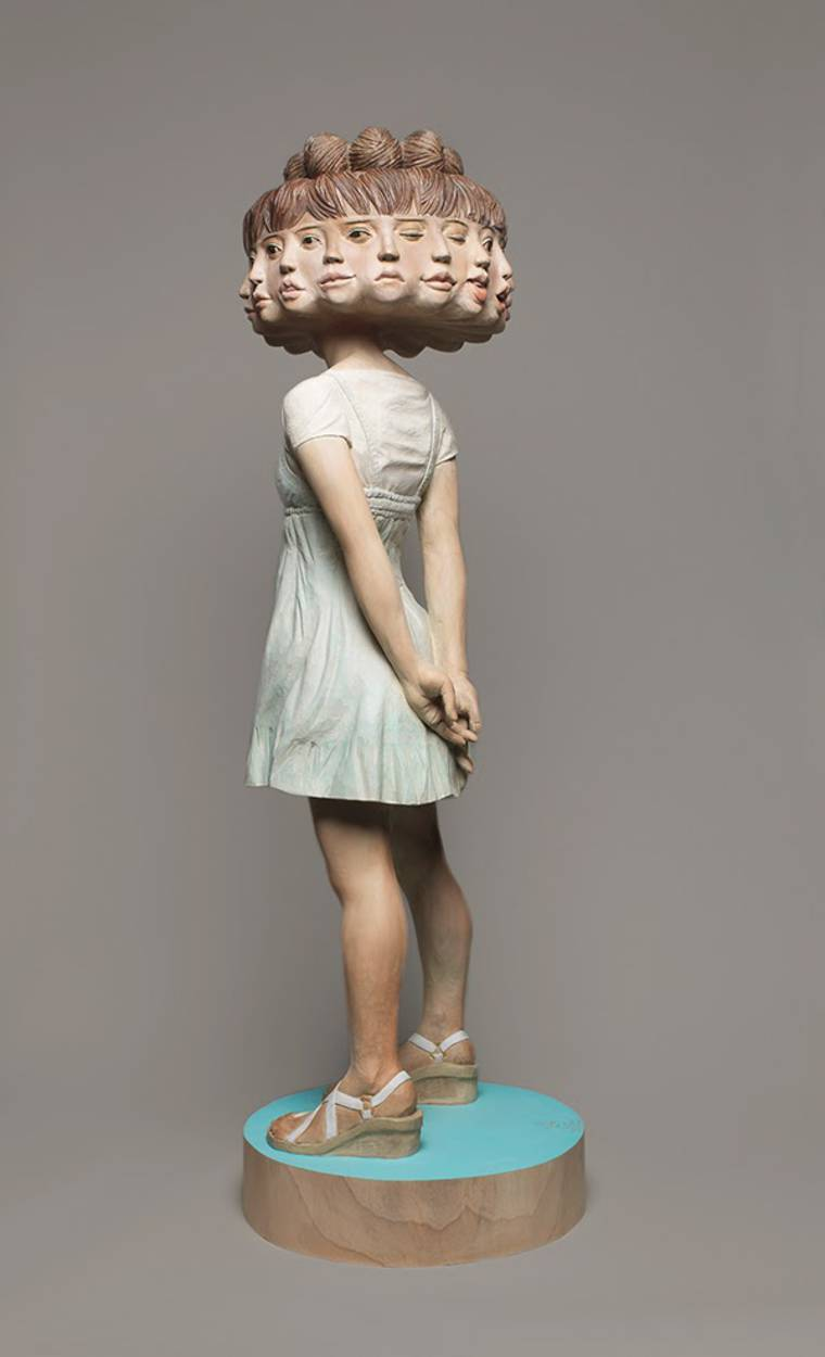 Glitch Girl - The new surreal sculptures by Yoshitoshi Kanemaki