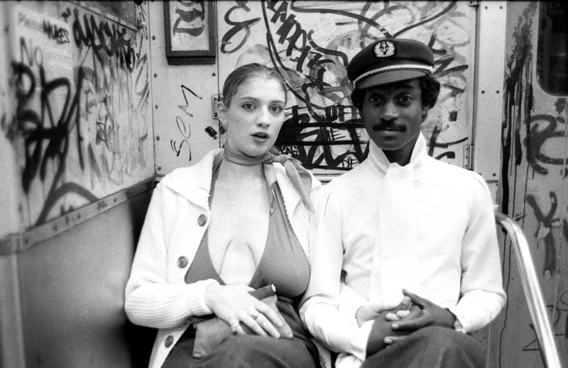 Couple on subway, 1980
