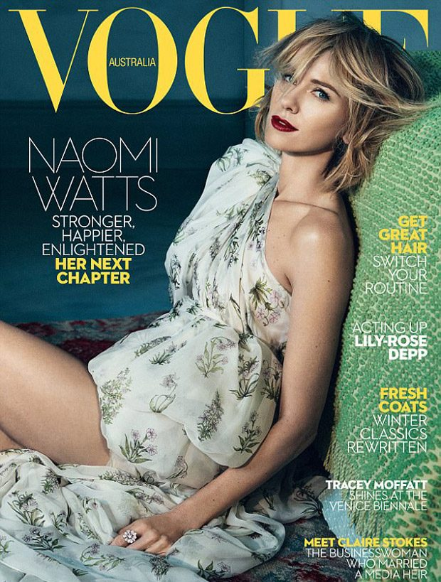 Naomi Watts is the Cover Star of Vogue Australia June 2017 Issue