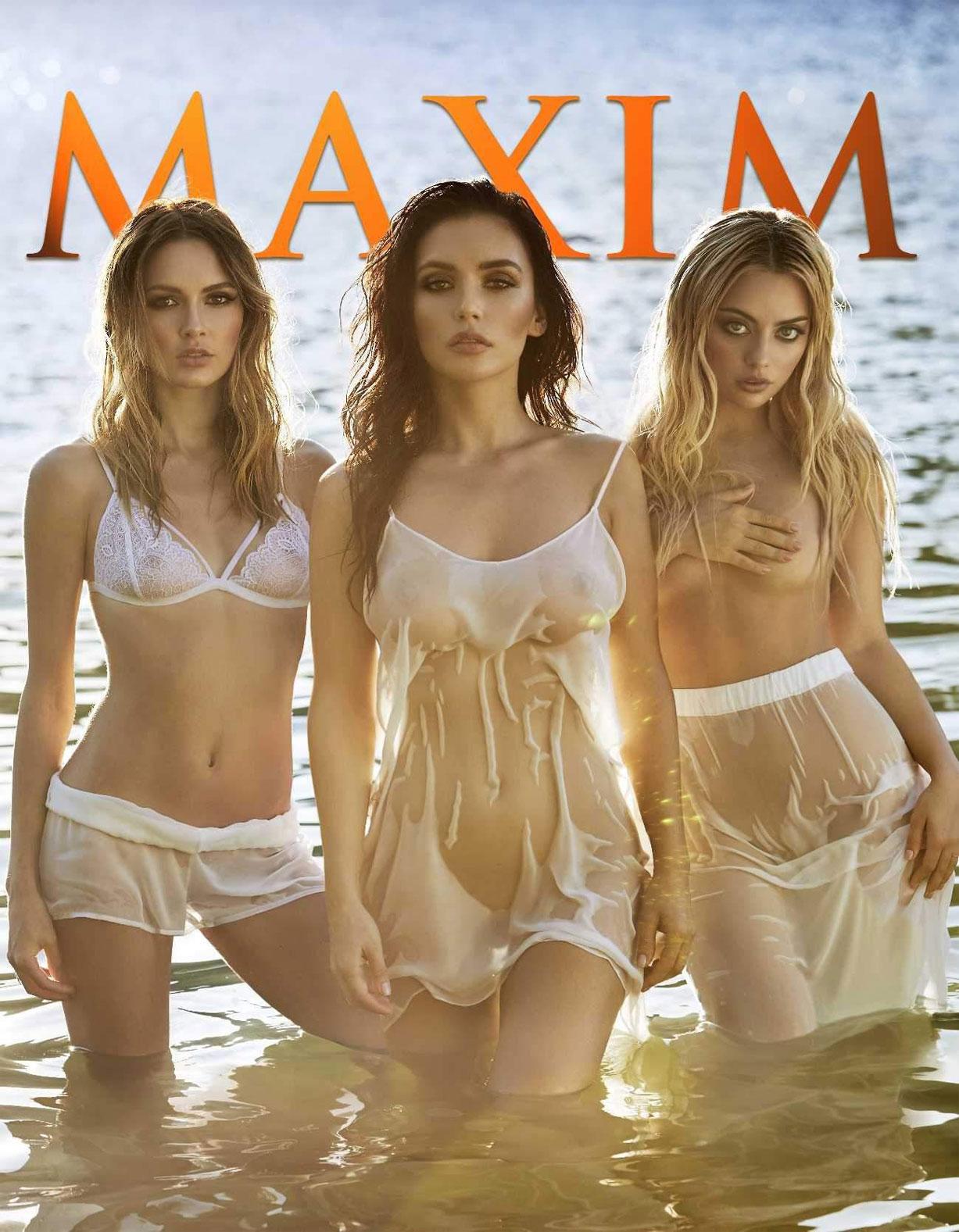 купания в свадебных платьях - поп-группа Serebro в журнале Maxim Россия март 2017