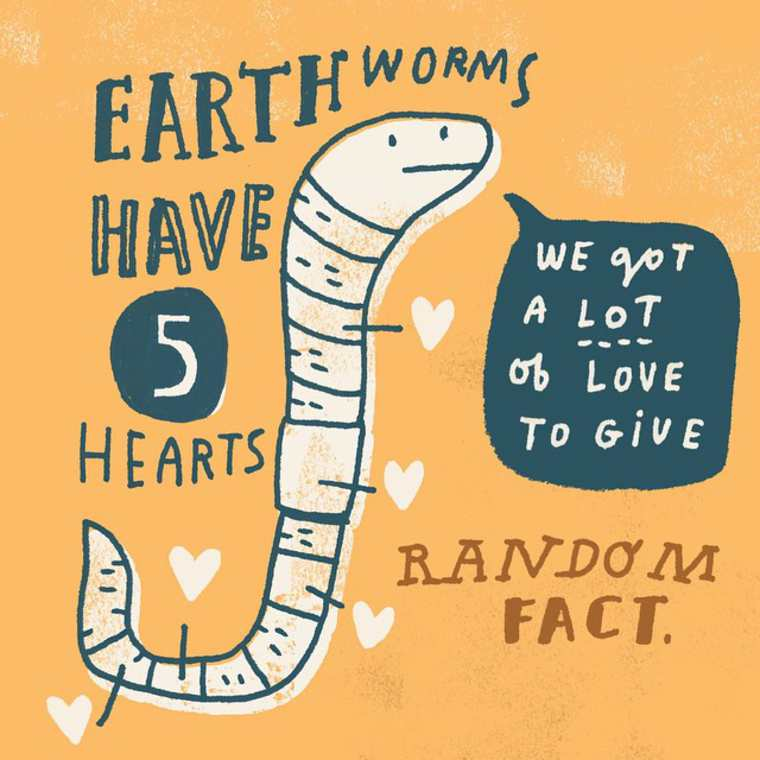 Random Facts - An adorable series of fun facts illustrated by Mike Lowery