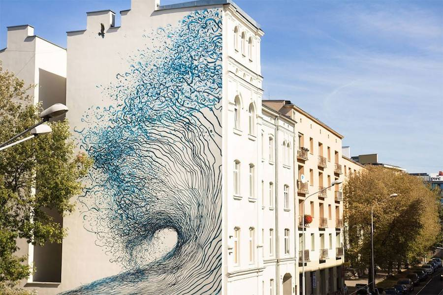 Impressive Street-Art Mural by DALeast in Poland