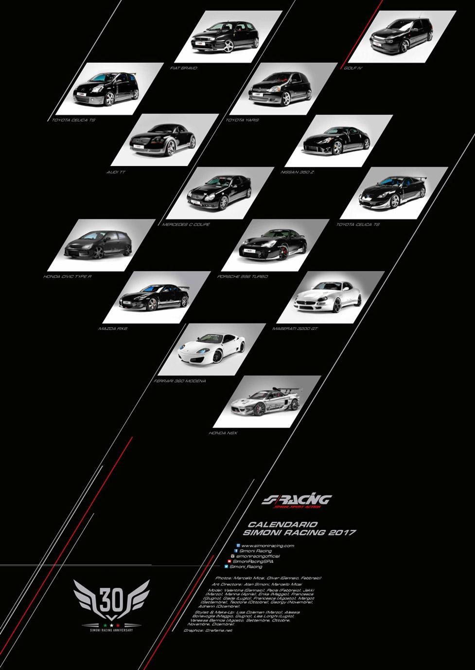 эротический календарь Simoni Racing 2017 calendar