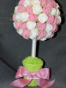 handmade, handwork, декор, дерево счастья, европейское дерево, интерьерная композиция, оригинальные подарки, оформление подарка, подарки, праздник, розы из салфеток своими руками, ручная работа, сувениры, творчество, топиарий из роз, топиарий, топиарий из бумажных роз, цветы из салфеток