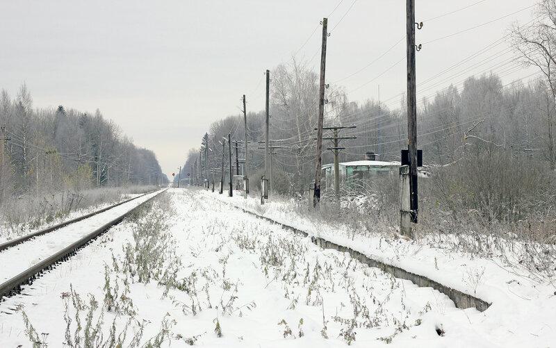 Станция Рождествено, вид на Вязьму