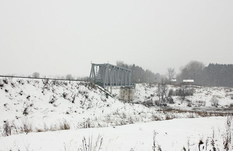 Мост через реку Вазуза на перегоне Сычёвка - Новодугинская