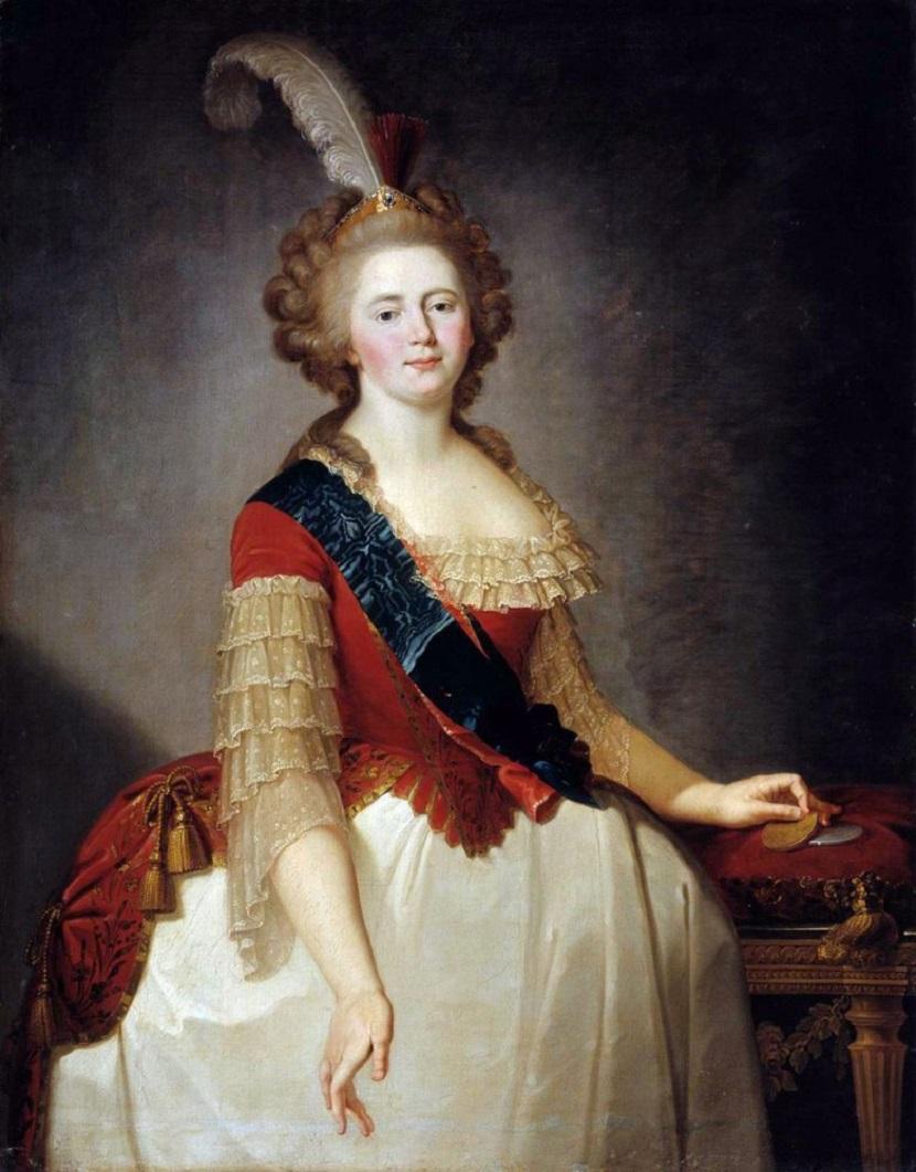 Портрет императрицы Марии Фёдоровны 1790-е Ульяновский художественный музей