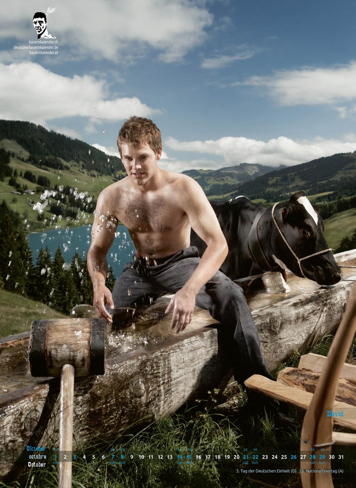 Швейцарские ковбои в горячем календаре