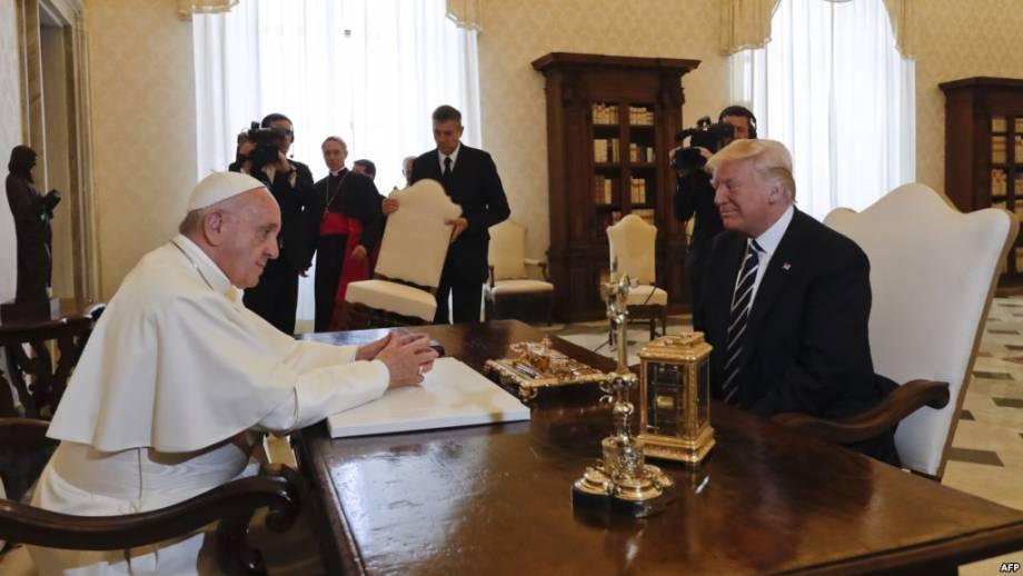 Папа Франциск принял Трампа в Ватикане
