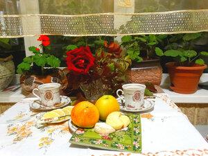 Чаепитие осенним вечером...