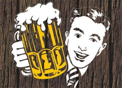 День пивовара в России! Мужчина с кружкой пива