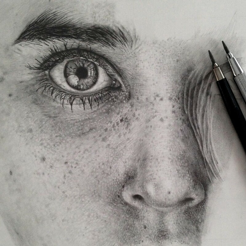 Моника Ли   невероятно реалистичные рисунки