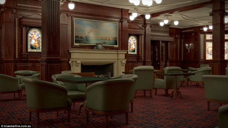 Курительная комната на «Титанике II».