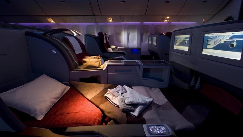 © qatarairways  Впервом классе катарских авиалиний самые удобные кровати спуховыми одеялами.