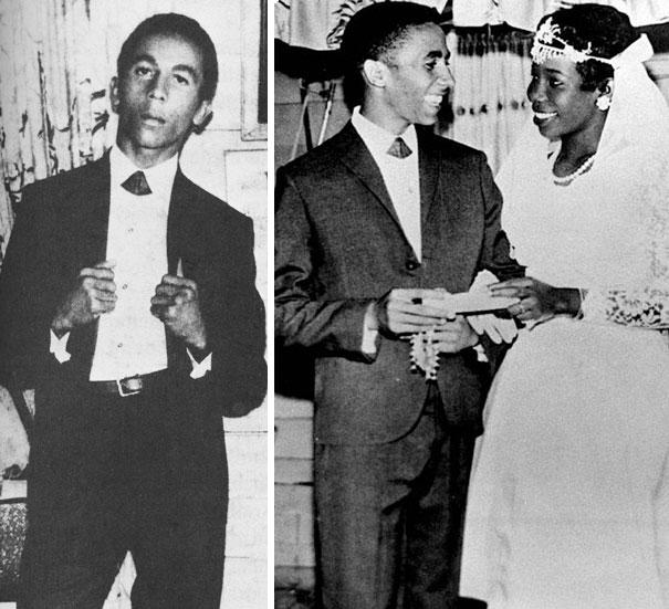 20-летний Боб Марли в день своей свадьбы, 1966 год.