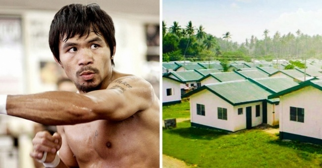 Когда-то Мэнни Пакьяо был обычным филиппинским мальчиком избедной семьи, нотеперь онединст