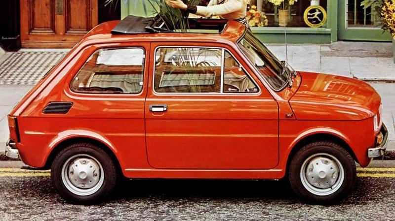 Fiat 126 '1972–76 Дизайн нового переднемоторного хэтчбека, ставшего известным как Гольф,