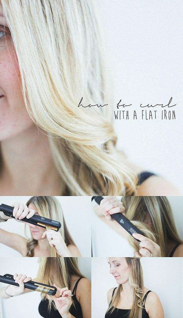3. С помощью утюжка для волос можно легко и быстро сделать крупные локоны.