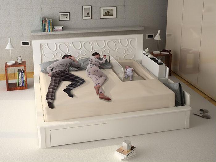 Кровать для родителей и новорожденного Familybed.