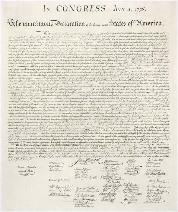 Декларация независимости США 1776 года. В 1989 году мужчина всего за 4 доллара купил декларацию неза