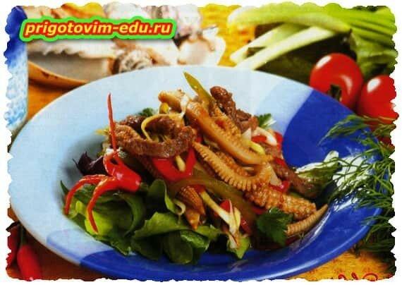 Салат из говядины с кукурузой