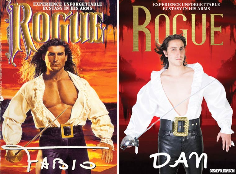 Recreating the covers of romance novels with real people